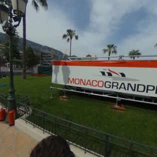 Racing through the streets of Monaco