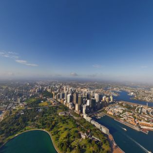 An aerial view of Sydney Harbour, Australia