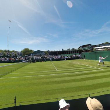 The opening day of Wimbledon