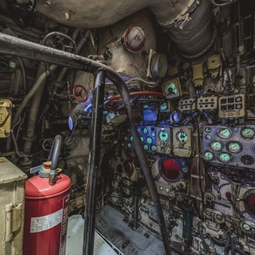 Dive down inside a Soviet submarine from the Cold War
