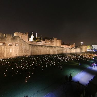 See the Tower of London's remembrance display at night