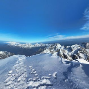 Enjoy the view from the summit of Triglav, Slovenia's highest mountain