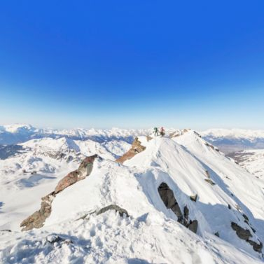 Welcome to the summit of Mont Fort, which offers a spectacular view across the Pennine Alps