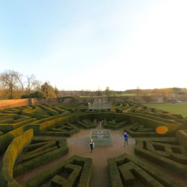 Get lost in the Marlborough Maze at Blenheim Palace as the sun sets