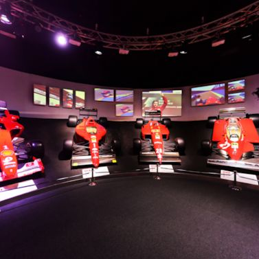 Take a spin around the Ferrari Museum's Hall of Fame and see eight F1 champion cars
