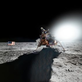 Celebrate the 50th anniversary of the first lunar landing with this spectacular view from the Moon