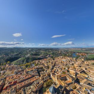 Soar above the city centre of Toledo, the ancient capital of Spain's Castile-La Mancha region