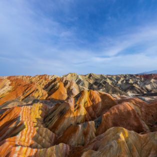 Wonder at the rainbow mountains of Zhangye National Geopark in Gansu, China