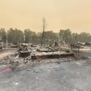 See how an Oregon neighbourhood has been devastated by the Almeda wildfire